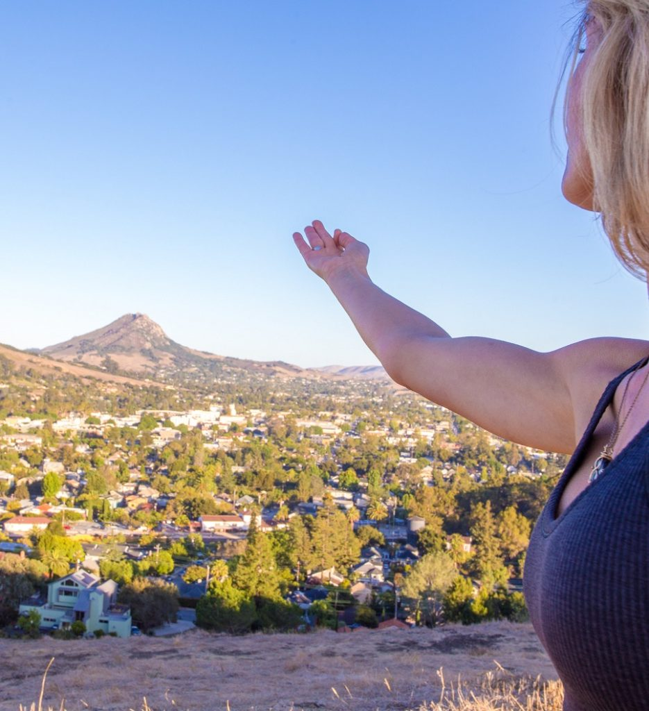 Yoga on Terrace Hill Overlooking San Luis Obispo