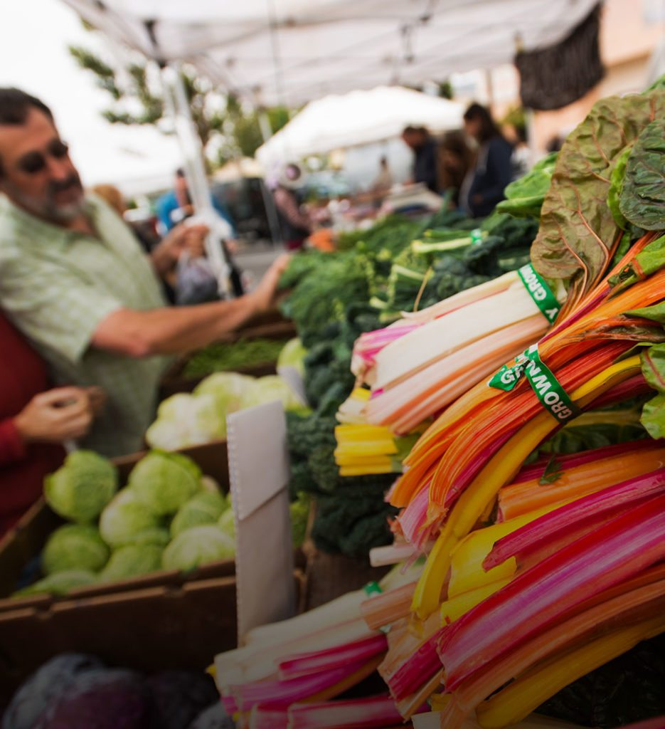 Fresh vegetables at the Downtown SLO Farmers' Market