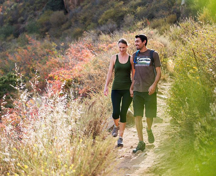 A couple hiking in San Luis Obispo, California