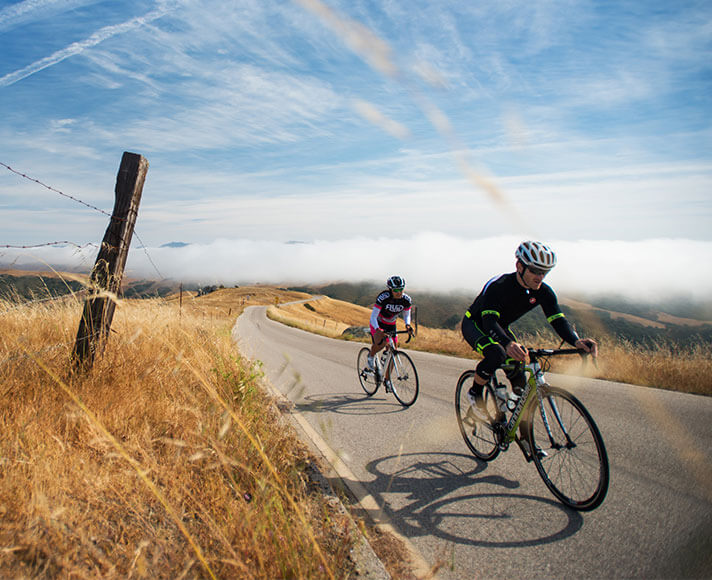 Cyclists bike throughout San Luis Obispo County