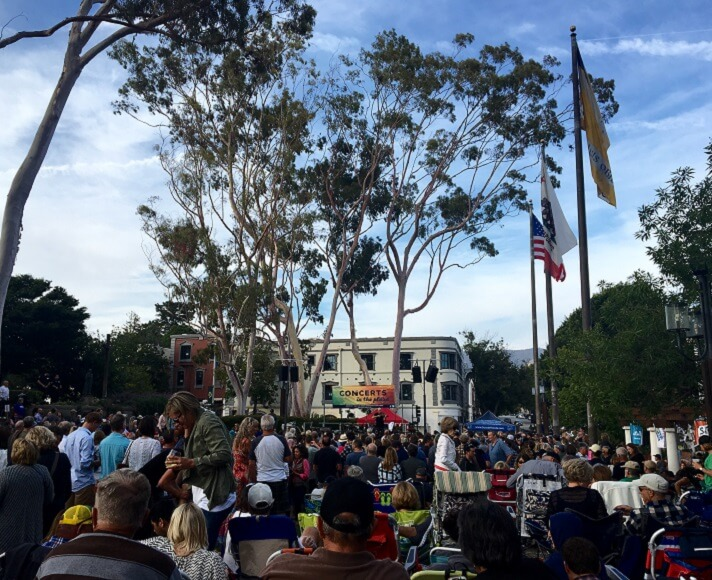Concerts in the Plaza in Mission Plaza, San Luis Obispo.