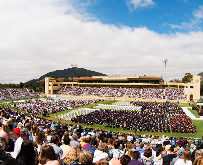 Cal Poly commencement in Spanos Stadium
