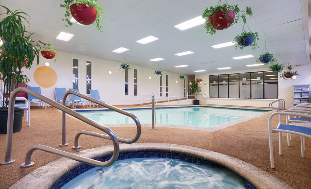Indoor Jacuzzi and pool at Embassy Suites by Hilton San Luis Obispo