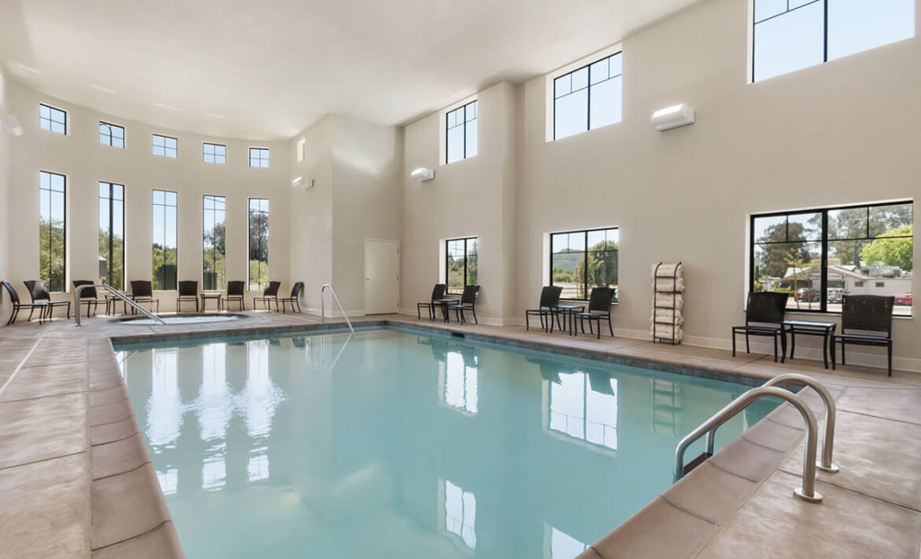 Indoor pool at Hampton Inn & Suites