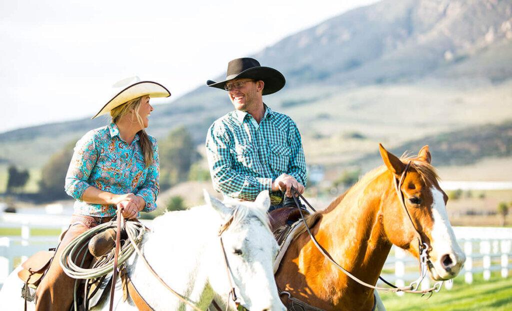 Horseback riding activities at Madonna Inn