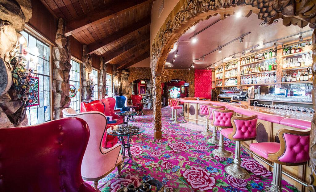 Elegant bar at Madonna Inn