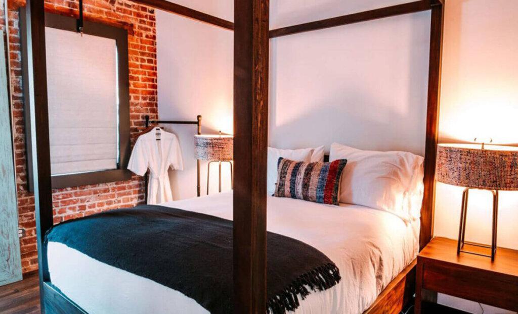 Bedroom of SLO Brew Lofts
