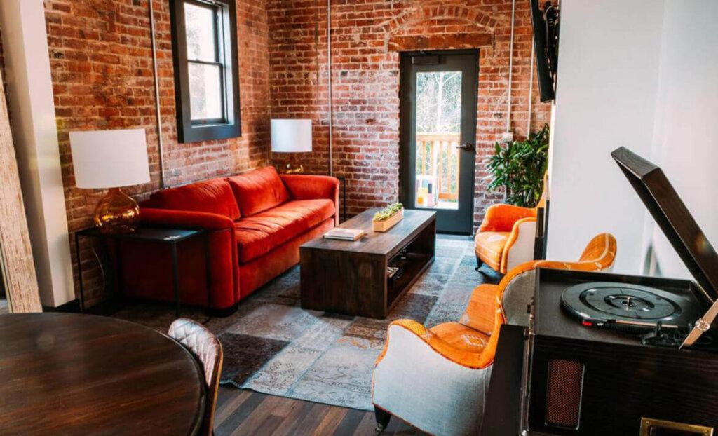 Living room of SLO Brew Lofts
