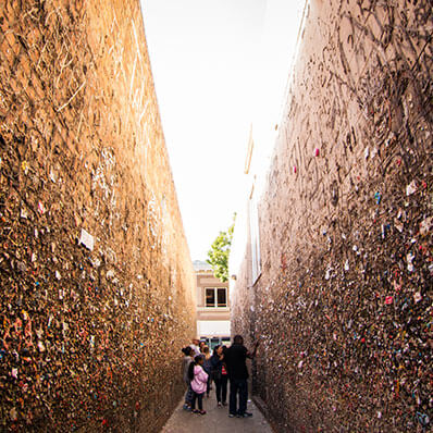 Bubblegum Alley in San Luis Obispo, California