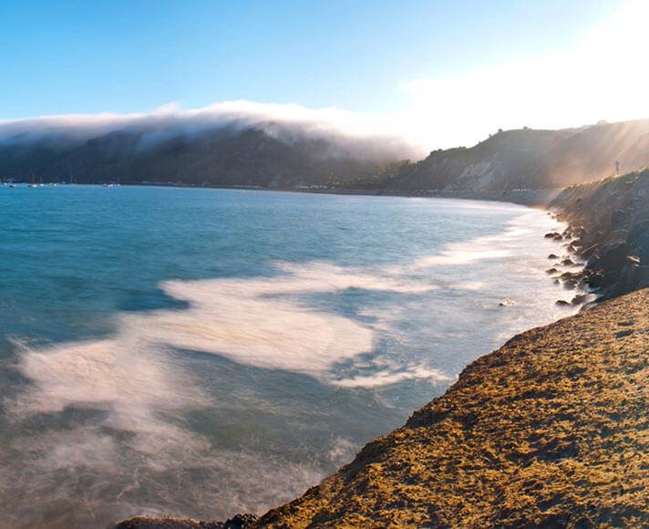 Fog rolls out over beautiful Central Coast beaches, San Luis Obispo