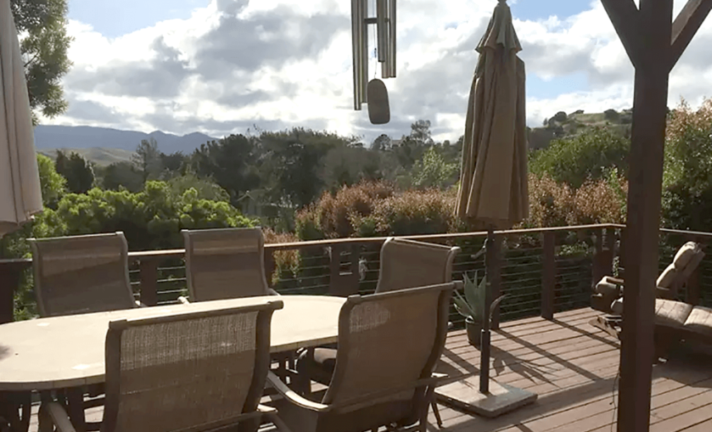 Patio and view from Suite with a View