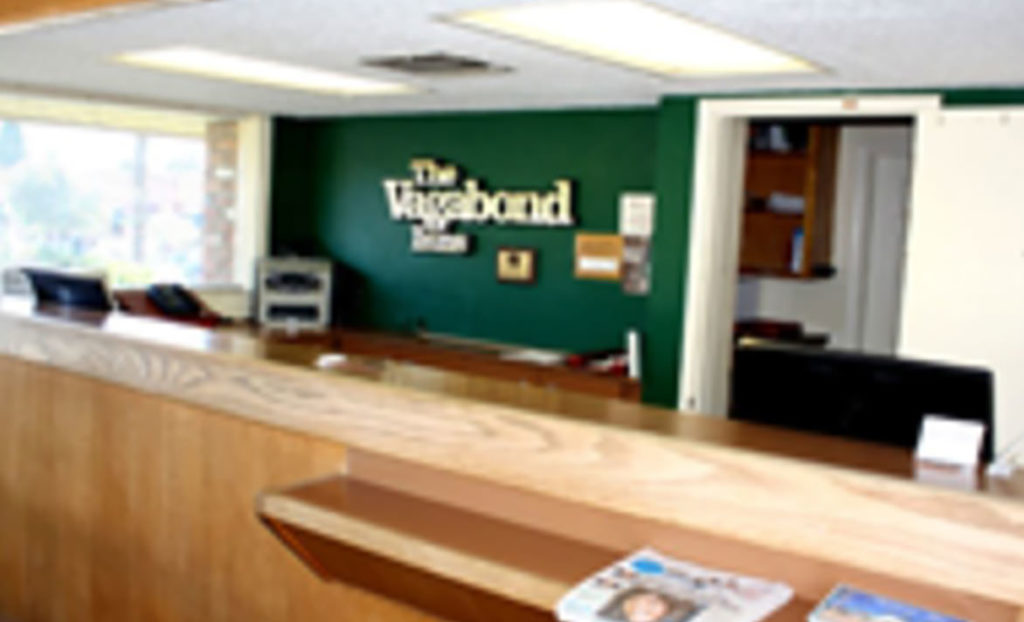 Check-in desk at Vagabond Inn