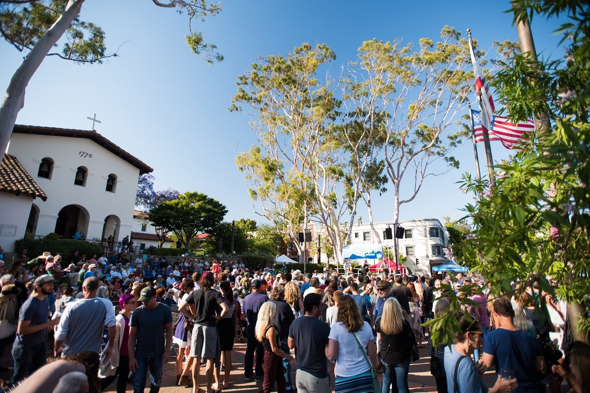 Concerts in the Plaza at the Mission in San Luis Obispo, California