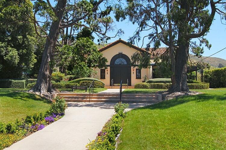 The historic Monday Club Front Entrance in San Luis Obispo, California