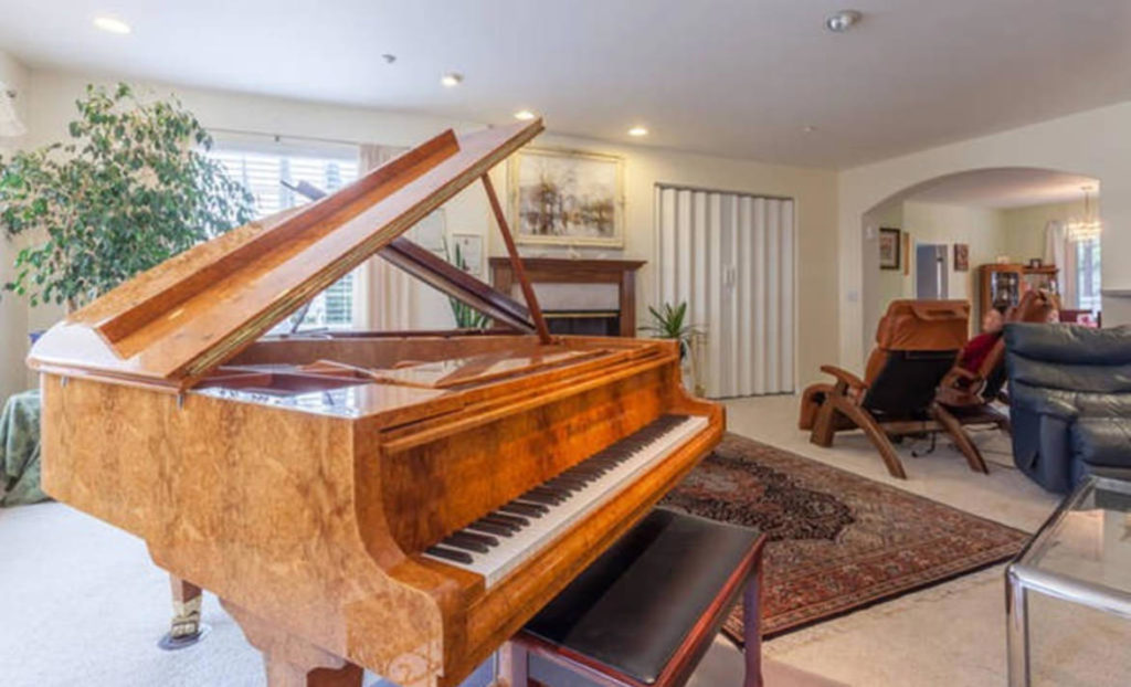 Piano and living room in Oprah's Happiest Town