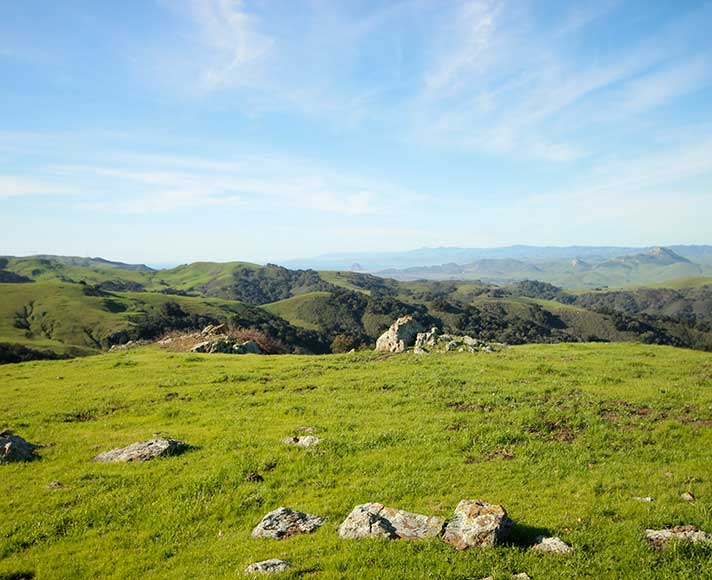 View of San Luis Obispo from overlanding destination, Prefumo Canyon