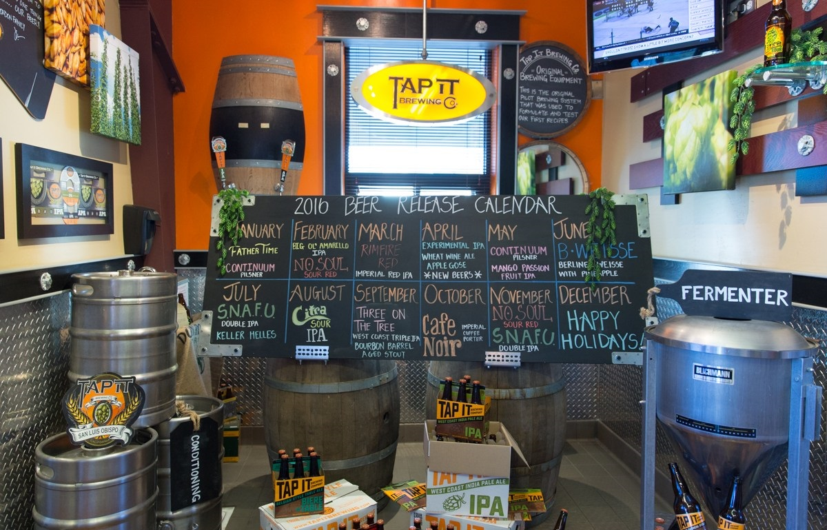 List of beers at Tap It Brewing Company in San Luis Obispo
