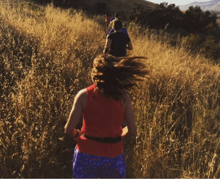 Runners running on a trail in San Luis Obispo