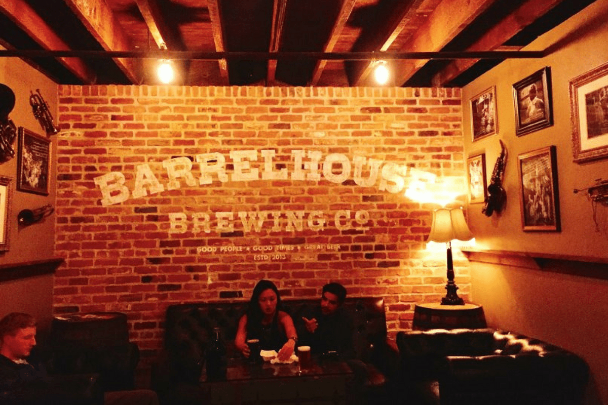 Beer tasting at BarrelHouse Brewery