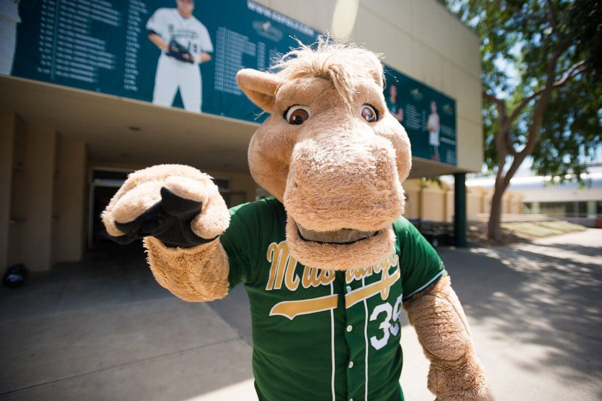 The Cal Poly Mustang Mascot