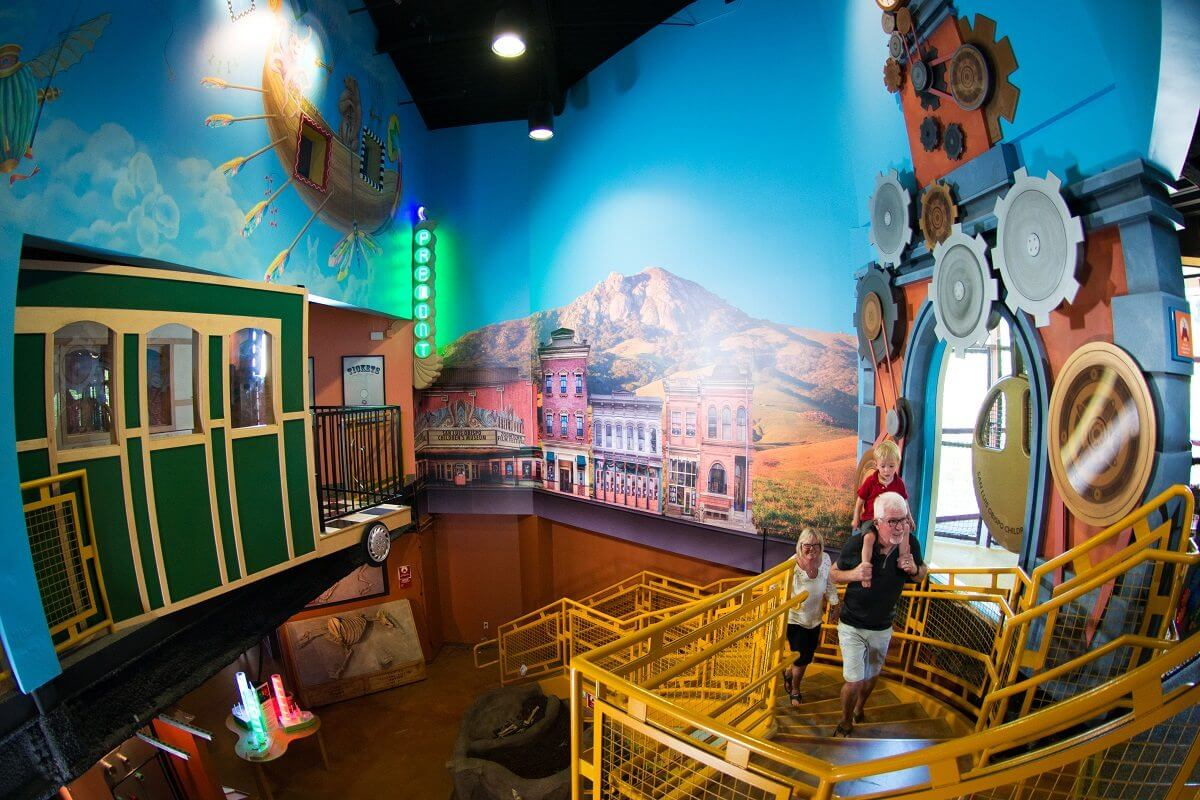 A family exploring the SLO Children's Museum