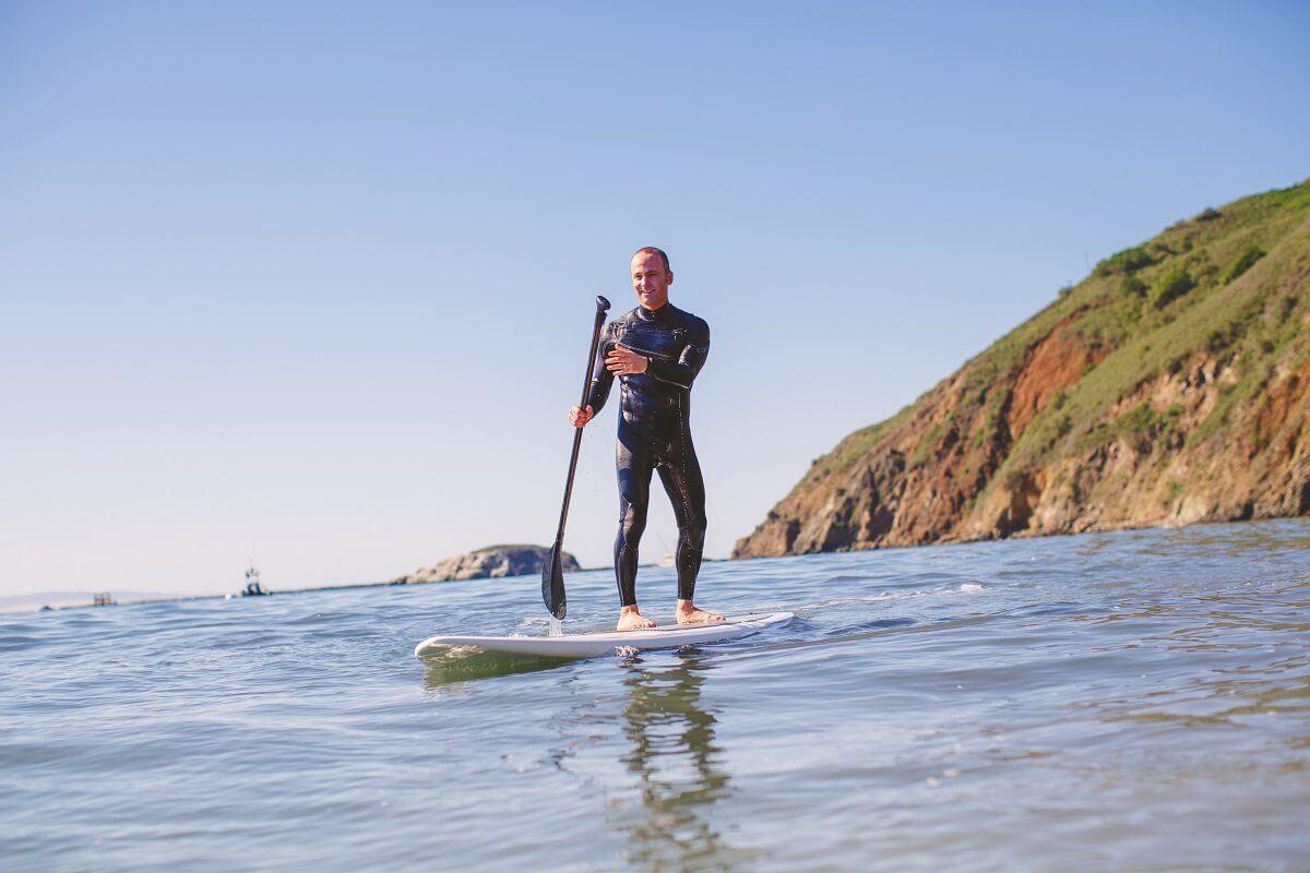 Paddle boarding in Avila Beach, CA