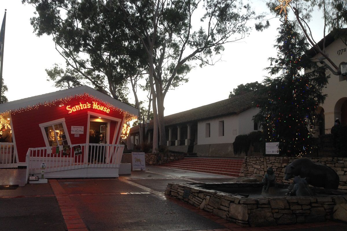 Santa's House in Downtown San Luis Obispo