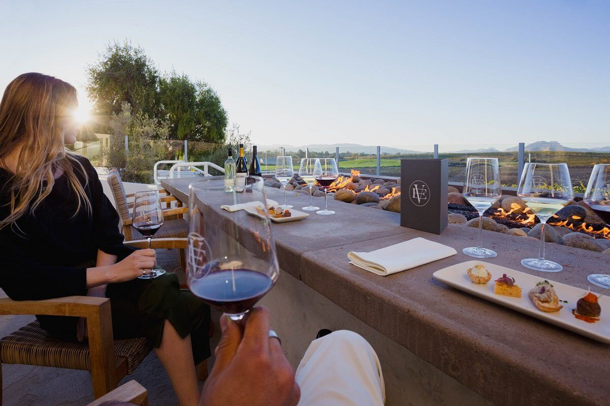 Wine Tasting in Edna Valley by the Firepits