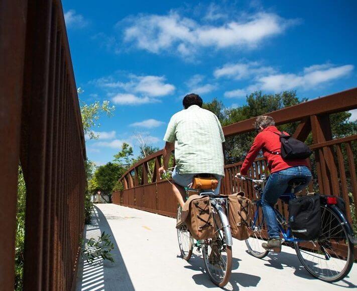 Featured Image 711 x 579 couple Riding bikes on Bridge