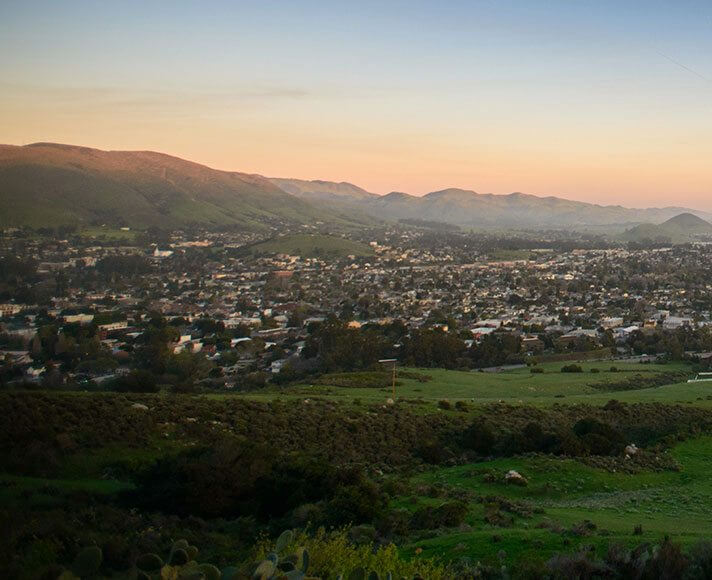 Green Hills with Sunset in San Luis Obispo