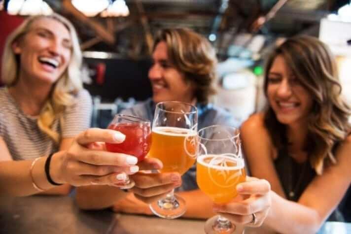 Brewery craft beer tasting