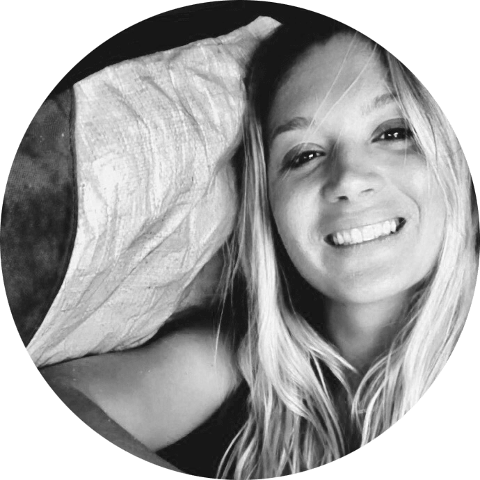 Adventure Aide Karlie Heynneman black and white smile