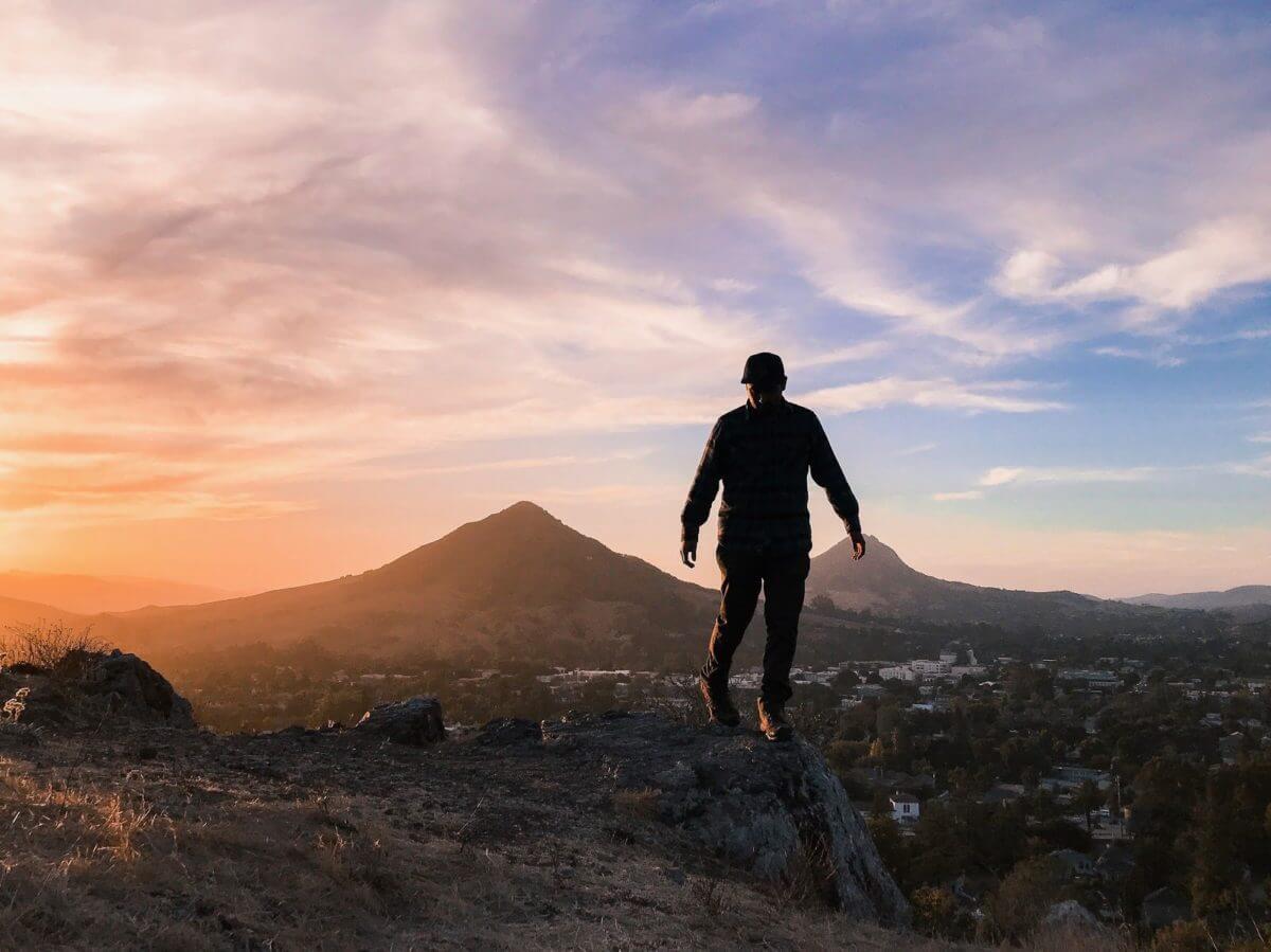 Adventure Aide Luke Bender sunset mountain