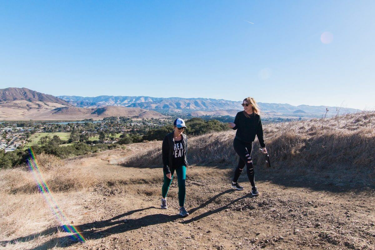 Adventure Aide Robyn Gimler hiking in SLO mountains