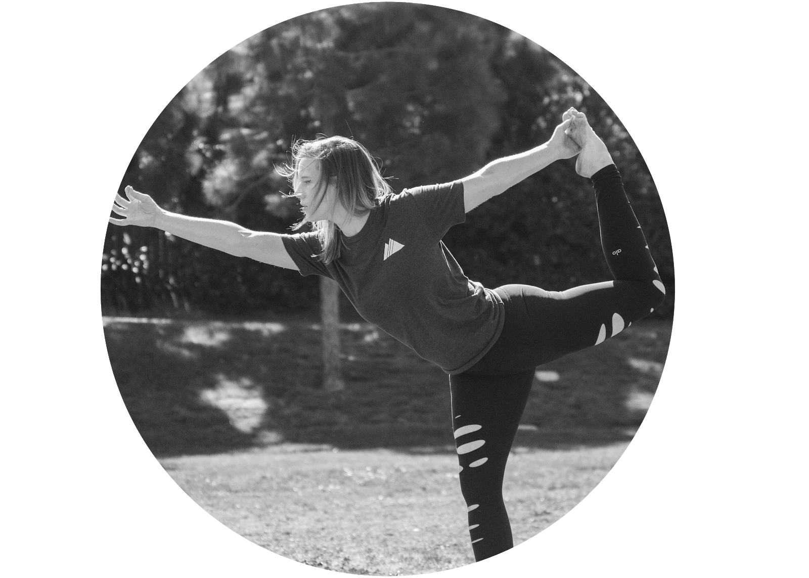 Adventure Aide Robyn Gimler Yoga Posing