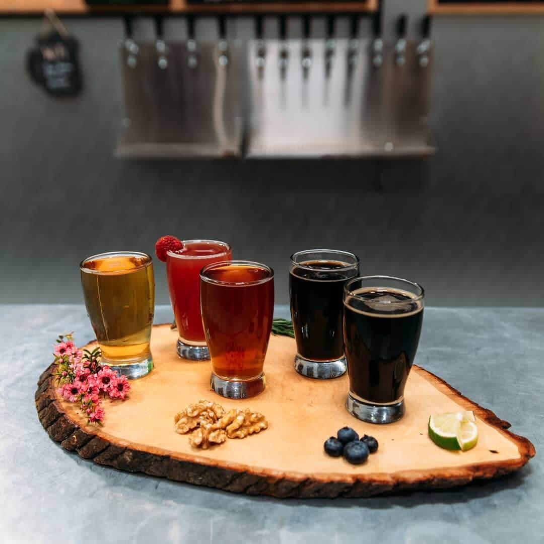 Seven Sisters Brewery Sustainable Beer Flight