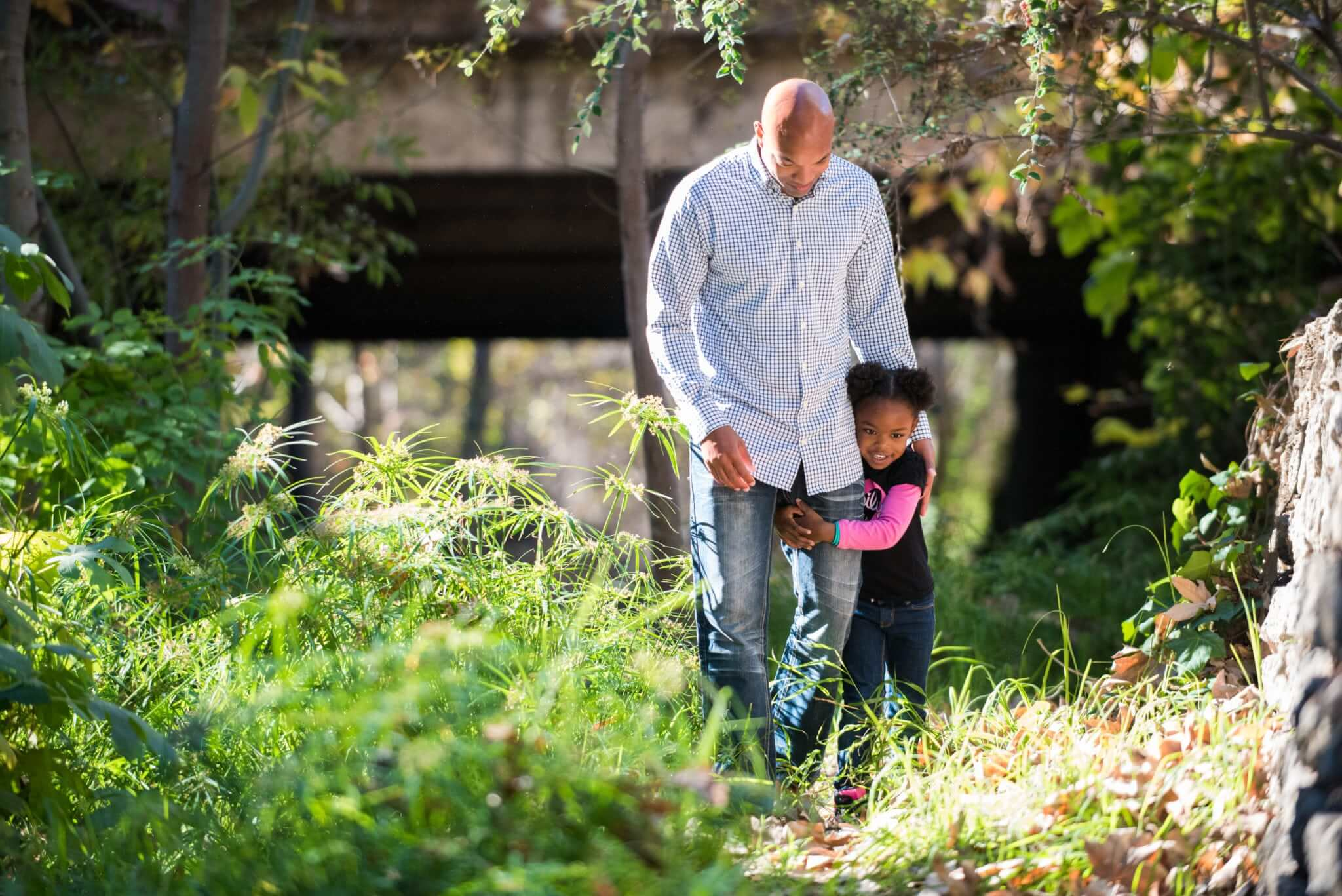 Father and Daughter near the SLO Creek