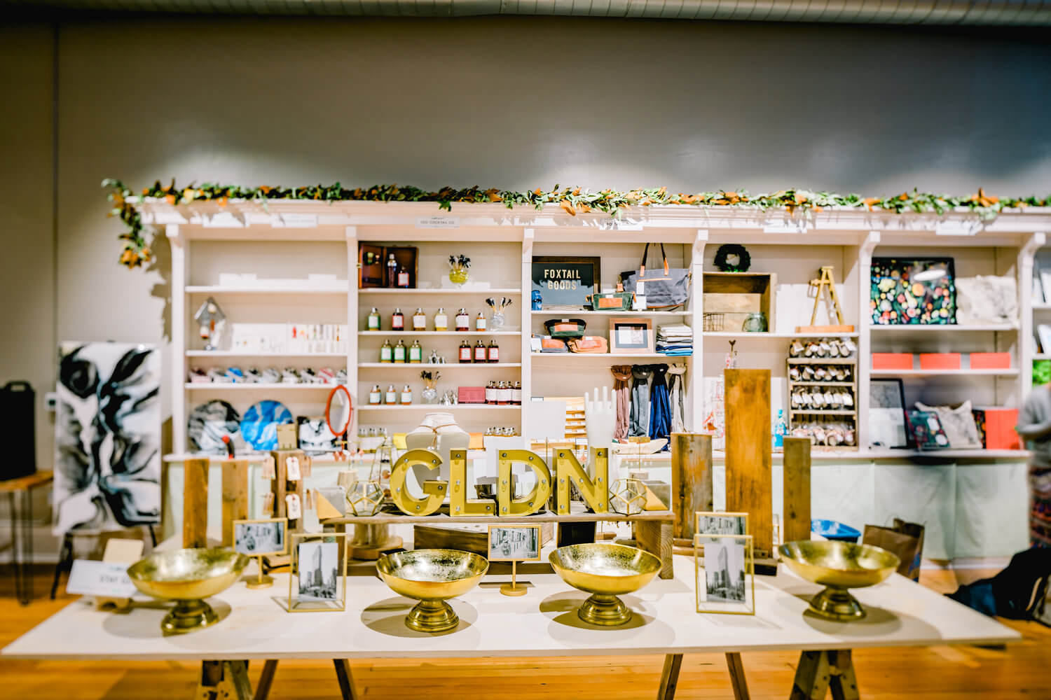 SLOcally Made Gold Table