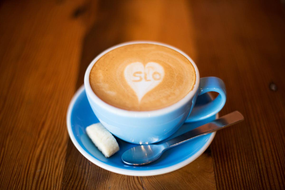 Ascendo Coffee SLO Heart Latte