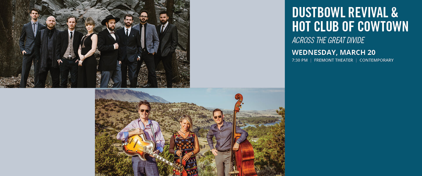 Dustbowl Revival and Hot Club of Cowtown Across the Great Divide event flyer