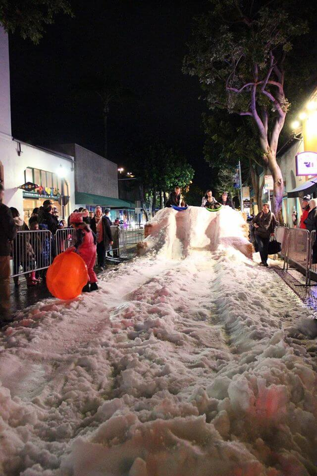 Snow Night in Downtown SLO