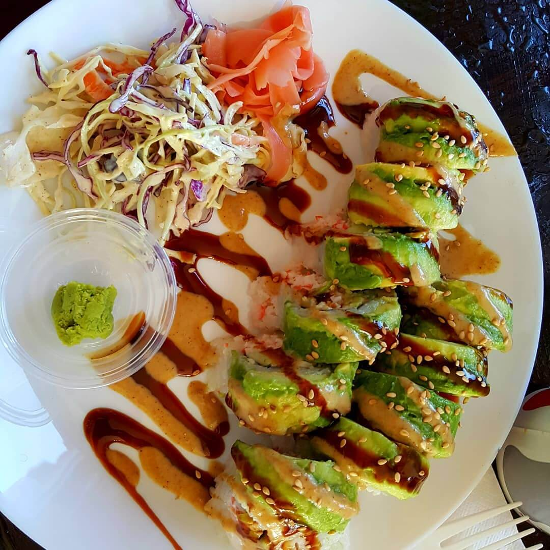 A California Roll from Sushi Kokku in San Luis Obispo