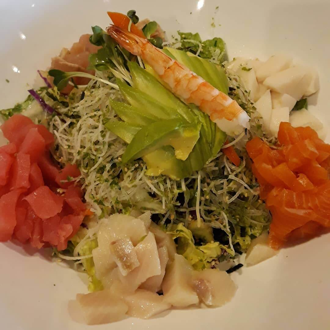 Shashimi Salad from SUSHIYA in San Luis Obispo