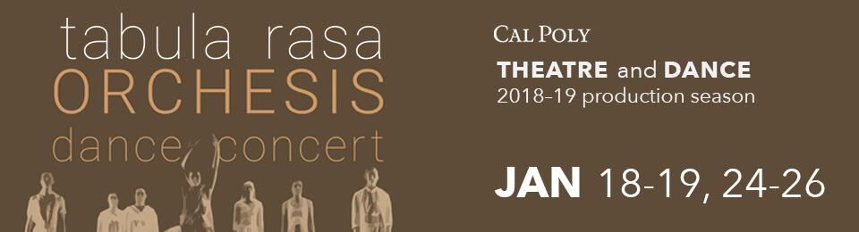 Tabula Rasa - Orchesis Dance Concert: Jan 18-19 event banner