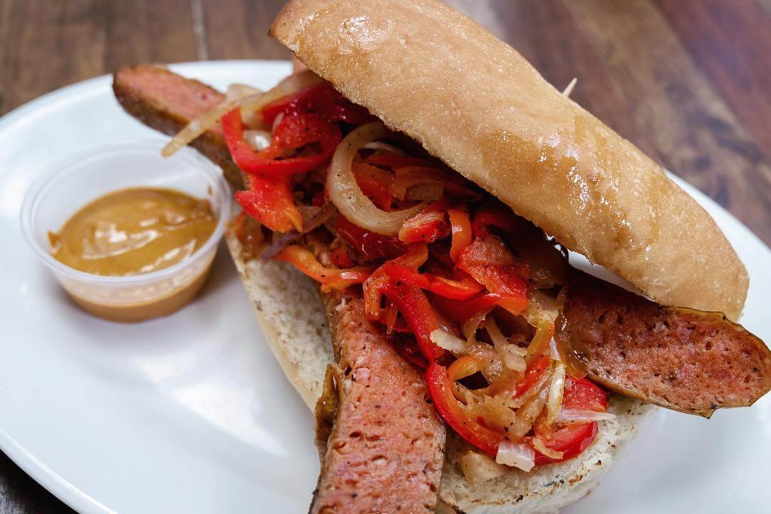 Linguica sandwich from Old San Luis BBQ Company