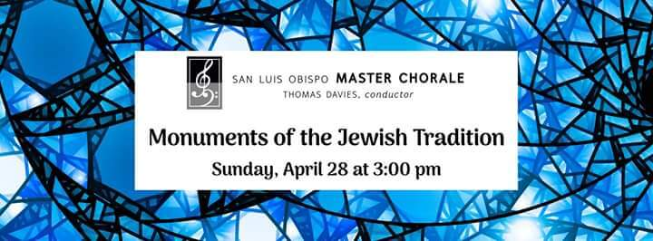 Monuments of Jewish Tradition San Luis Obispo Event Flyer