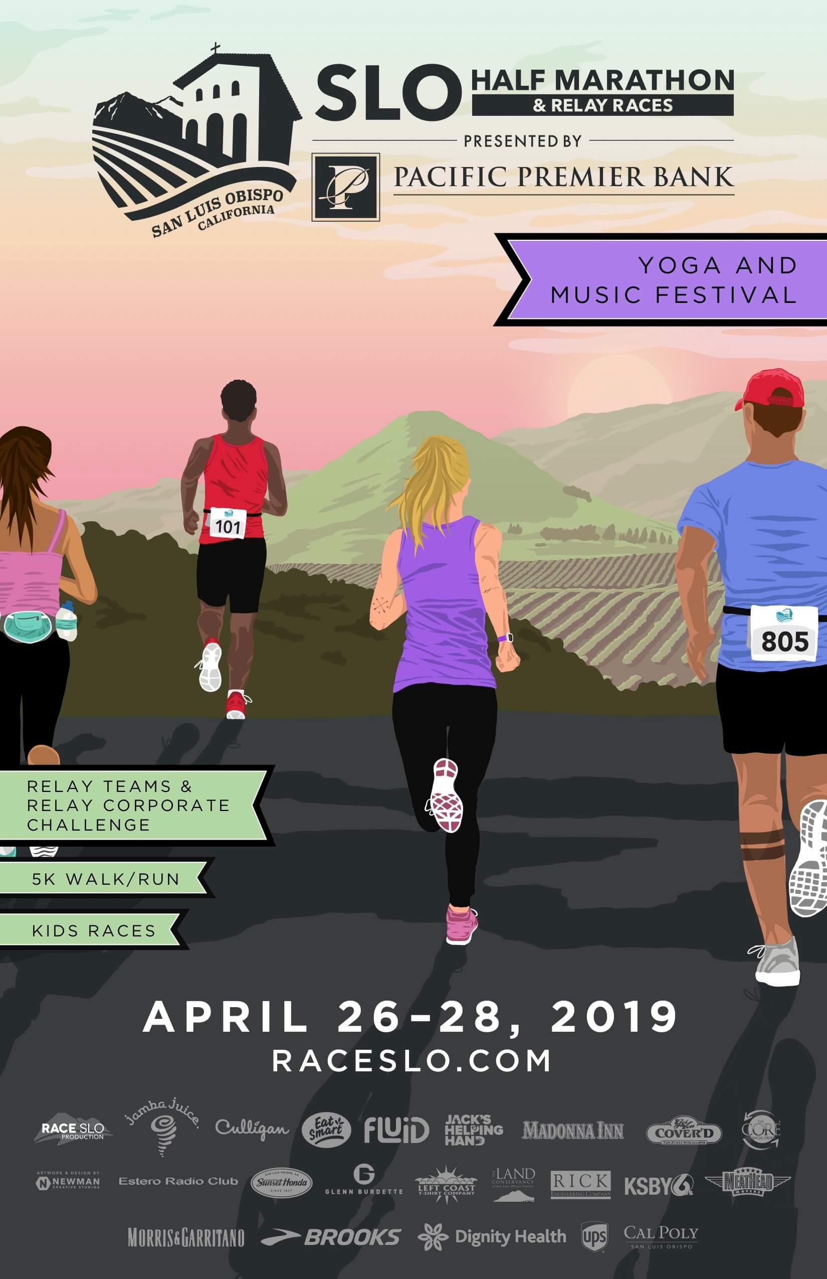 SLO Half Marathon Event Poster