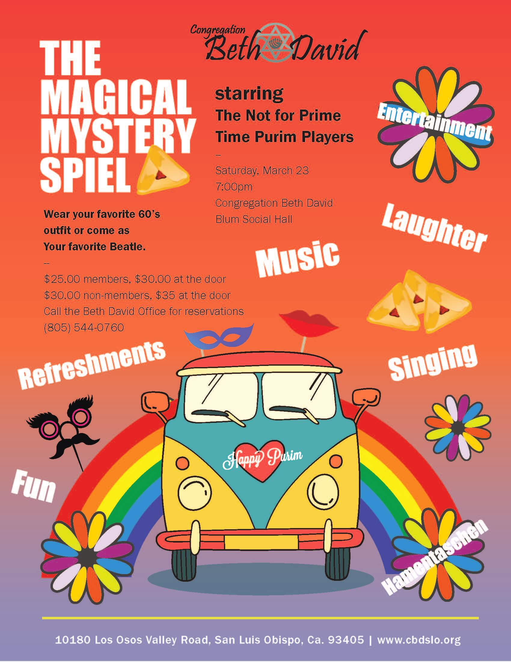 San Luis Obispo Event Flyer for The Magical Mystery Spiel
