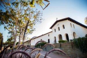 Photo of Mission Plaza in San Luis Obispo, California.