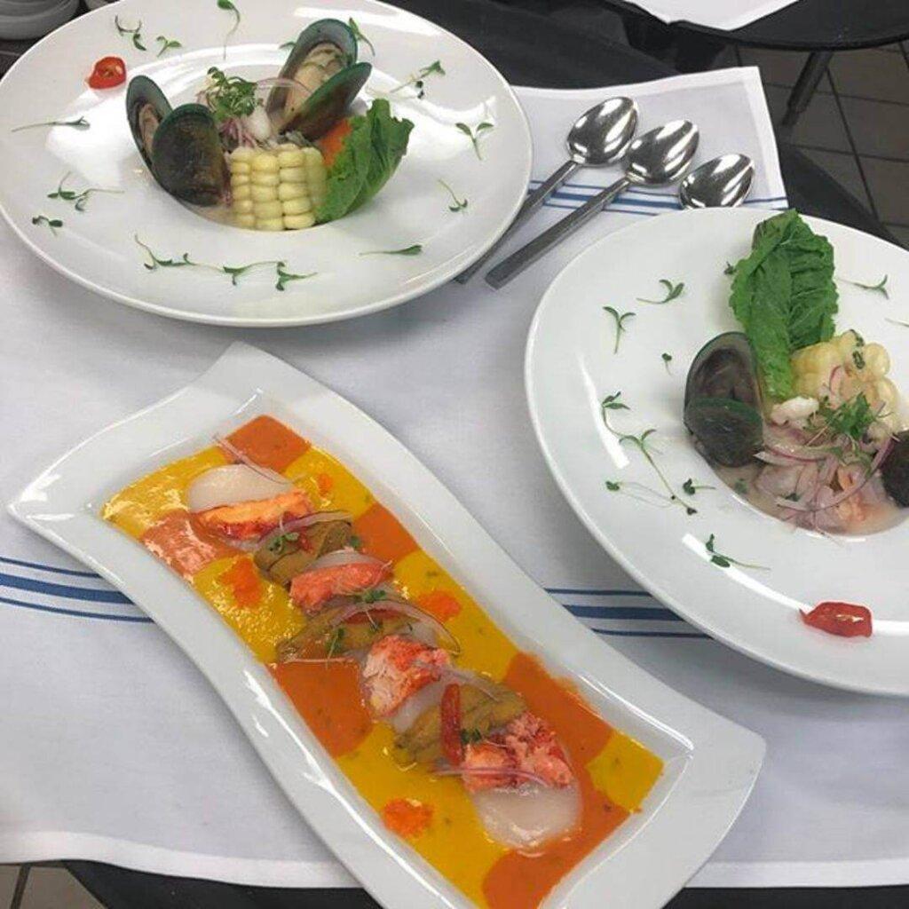 Ceviche Misto and Tiradito Afrodisiaco from Mistura Restaurant in San Luis Obispo, California.